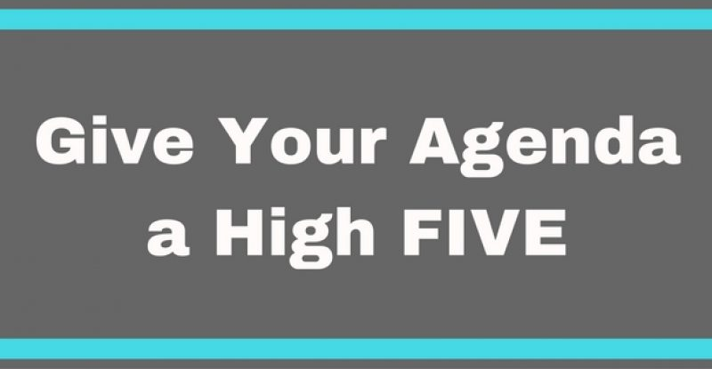 Give Your Agenda a High FIVE