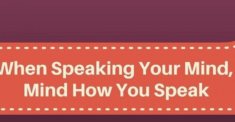 When Speaking